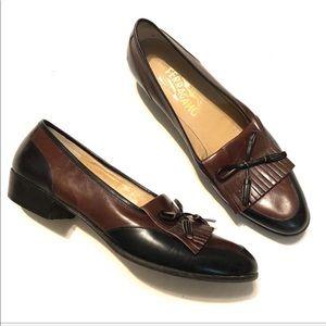 Salvatore Ferragamo Tassel Loafers Block Heel 8